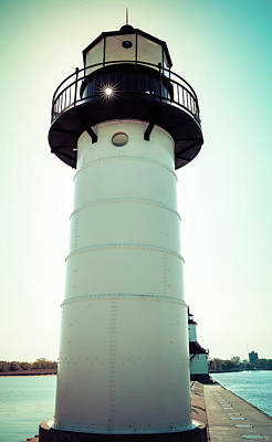 Photograph - St Joseph Lighthouse Sun Star by Dan Sproul
