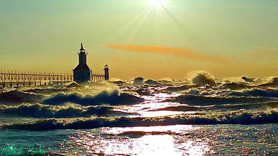 Photograph - St Joseph Lighthouses by Michael Rucker