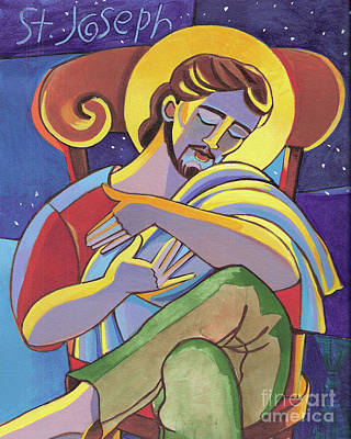 Painting - St. Joseph - Mmjsp by Br Mickey McGrath OSFS