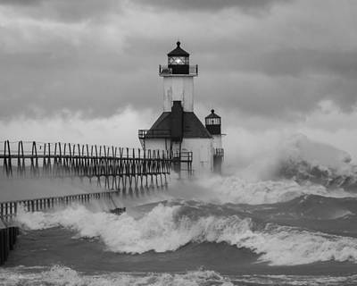Photograph - St. Joseph North Pier Lighthouse by Kimberly Kotzian