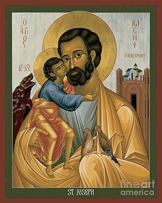 St. Joseph Of Nazareth - Rljnz Art Print