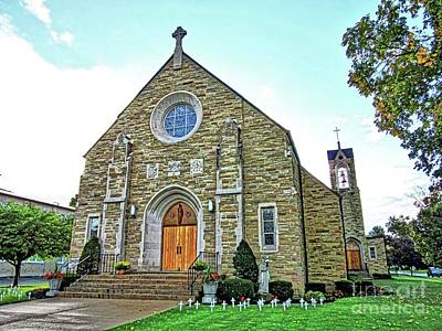 St Joseph Rc Church Gowanda Ny Art Print by Elizabeth Duggan