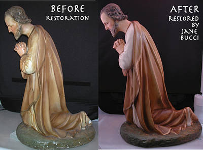 Mixed Media - St. Joseph Restored by Jane Bucci