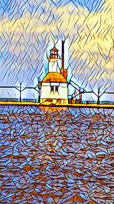Photograph - St Joseph River Light 2  Fbm by Daniel Thompson