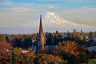 Photograph - St Joseph With Mt Rainier by Jack Moskovita