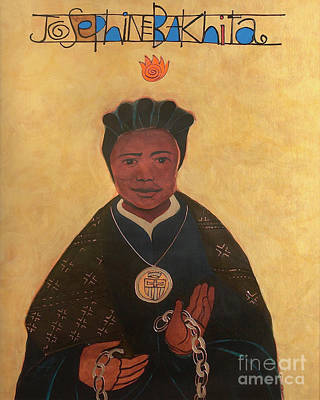 Painting - St. Josephine Bakhita - Mmbkh by Br Mickey McGrath OSFS