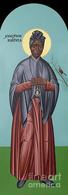 Painting - St. Josephine Bakhita - Rlbak by Br Robert Lentz OFM