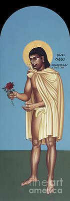 Painting - St. Juan Diego Cuauhtlatoatzin - Rljua by Br Robert Lentz OFM