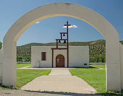 Photograph - St Jude Catholic Church - San Patricio, Nm by Allen Sheffield