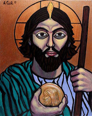 Wall Art - Painting - St. Jude Thaddeus by Adam B Cook