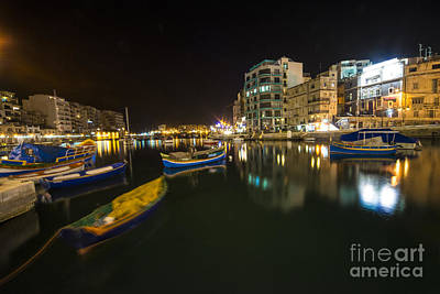 Valletta Photograph - St Julian Nite  by Rob Hawkins
