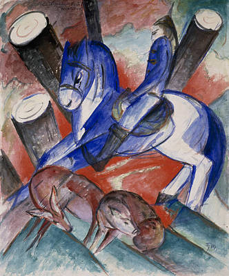 Painting - St. Julian The Hospitaler by Franz Marc