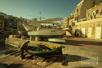 Valletta Photograph - St Julian's Golden Boats  by Rob Hawkins