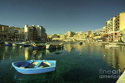 Maltese Photograph - St Julians Harbour  by Rob Hawkins