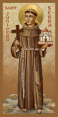 Painting - St. Junipero Serra - Jcjns by Joan Cole
