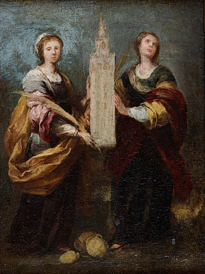 Painting - St. Justa And St. Rufina by Celestial Images