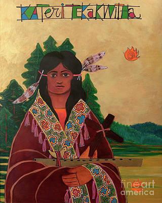 Painting - St. Kateri Tekakwitha - Mmktw by Br Mickey McGrath OSFS