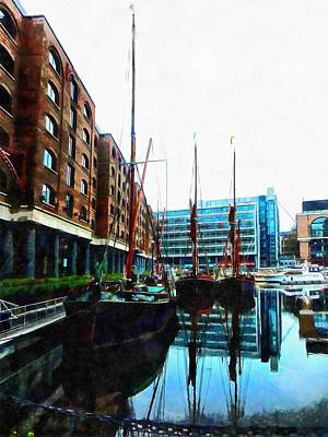 Photograph - St Katharine Docks Boats 10 by Dorothy Berry-Lound