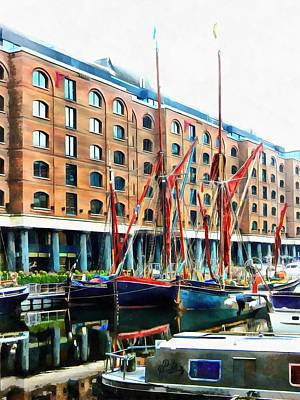Photograph - St Katharine Docks Boats 11 by Dorothy Berry-Lound