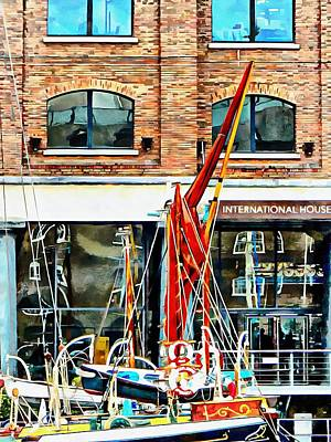 Photograph - St Katharine Docks Boats 12 by Dorothy Berry-Lound
