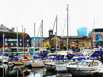 Photograph - St Katharine Docks Boats 3 by Dorothy Berry-Lound
