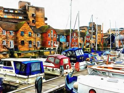 Photograph - St Katharine Docks Boats 6 by Dorothy Berry-Lound