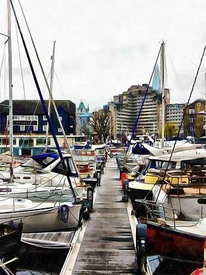 Photograph - St Katharine Docks Boats 7 by Dorothy Berry-Lound