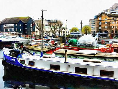 Photograph - St Katharine Docks Boats 8 by Dorothy Berry-Lound