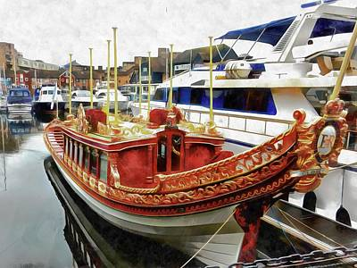 Photograph - St Katharine Docks Boats 9 by Dorothy Berry-Lound