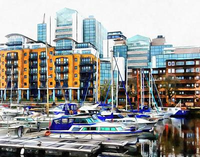 Photograph - St Katharine Docks Boats 1 by Dorothy Berry-Lound
