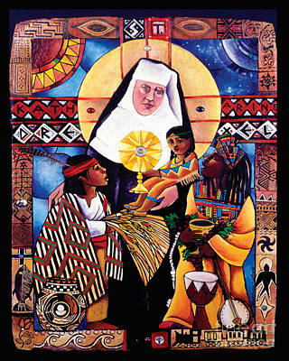 Painting - St. Katharine Drexel - Mmkdr by Br Mickey McGrath OSFS