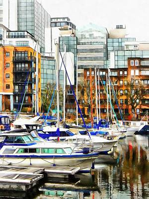 Photograph - St Katharine Docks Boats 2 by Dorothy Berry-Lound