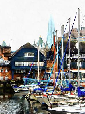Photograph - St Katharine Docks Boats 4 by Dorothy Berry-Lound