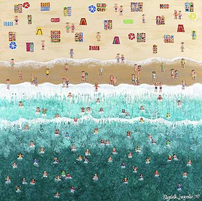 Painting - Heat Wave At Manly by Elizabeth Langreiter