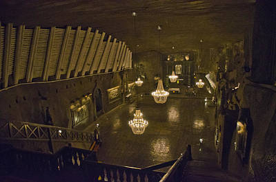 Cracow Photograph - St Kingas Chapel - Wieliczka Salt Mine by Jon Berghoff
