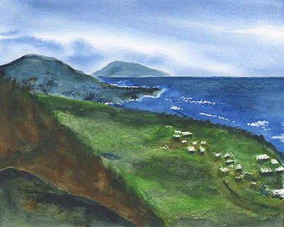 St Kitts View Art Print
