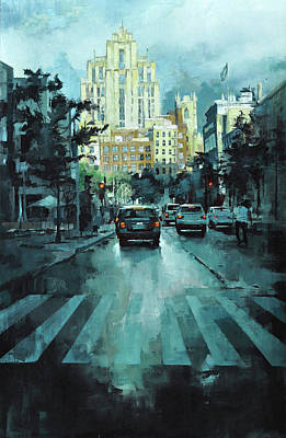 Montreal Cityscapes Painting - St-laurent by Guillaume Menuel