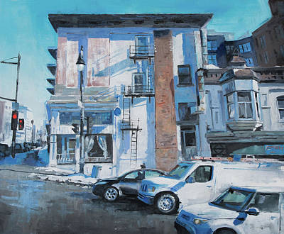 Montreal Buildings Painting - St-laurent Sherbrooke by Guillaume Menuel