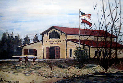 Painting - St. Lawrence Boathouse by Denny Morreale