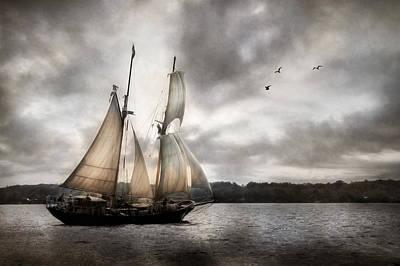 Tall Ship Mixed Media - St. Lawrence II by Lori Deiter