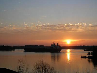 St Lawrence River Sunrise 9 Art Print
