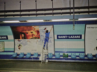 Photograph - St. Lazare Poster Hanger by Frank DiMarco