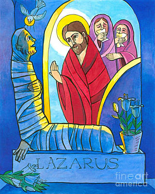 Painting - St. Lazarus - Mmlzr by Br Mickey McGrath OSFS