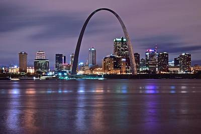 Photograph - St Louis Above The Mississippi by Frozen in Time Fine Art Photography