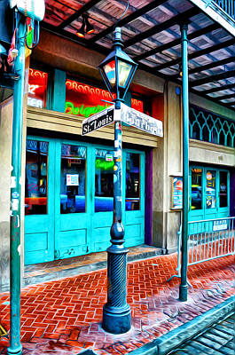 Bourbon Street Photograph - St Louis And Bourbon Streets - New Orleans by Bill Cannon