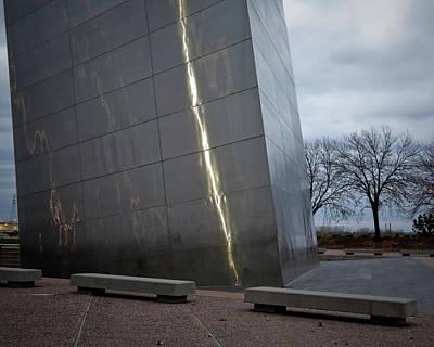 Photograph - St Louis Arch - Scale by David Coblitz