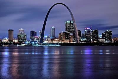 Photograph - St Louis Arch And City by Frozen in Time Fine Art Photography