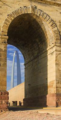 Photograph - St Louis Arch And Eads Bridge   by Garry McMichael