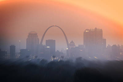 Photograph - St Louis Arch Sunset by Garry McMichael