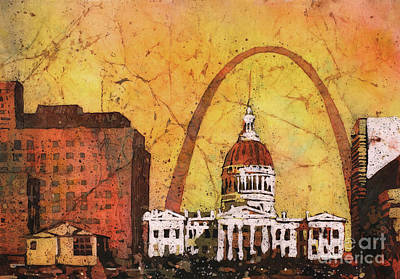 Painting - St. Louis Archway by Ryan Fox